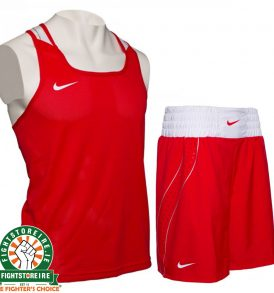 Nike Competition Boxing Vest & Shorts Set - Red