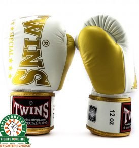 Twins BGVL 8 Thai Boxing Gloves - White/Gold