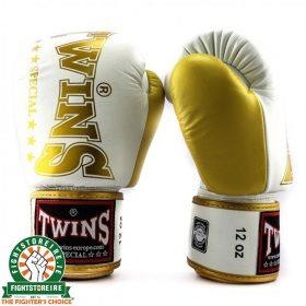 Twins BGVL 8 Thai Boxing Gloves - White/Gold