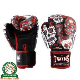 Twins Fantasy 3 Thai Boxing Gloves - Skull
