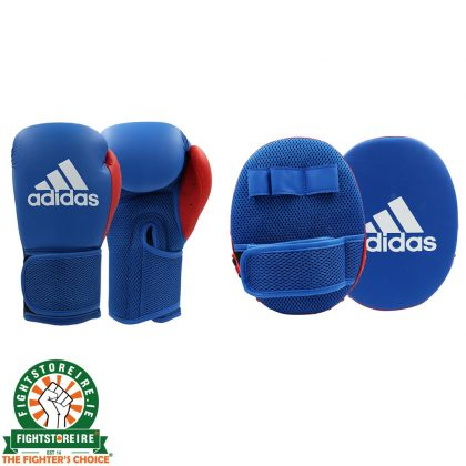 Adidas Kids Boxing Gloves And Focus Mitts Set