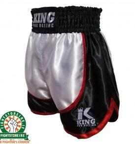 King Boxing Trunks - Black/White/Red