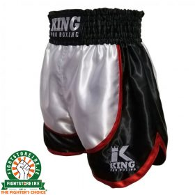 King Boxing Trunks - Black/White/Red