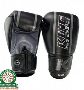 King Elite 1 Muay Thai Gloves - Black/Grey