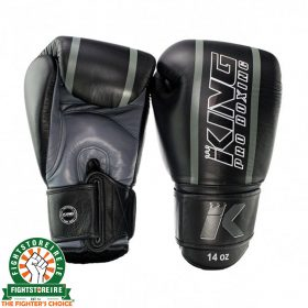 King Elite 1 Muay Thai Gloves - Black/Grey
