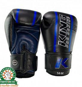 King Elite 2 Muay Thai Gloves - Black/Blue