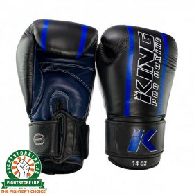 King Elite 2 Muay Thai Gloves - Black/Blue