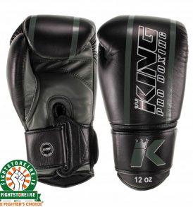 King Elite 5 Muay Thai Gloves - Black/Green