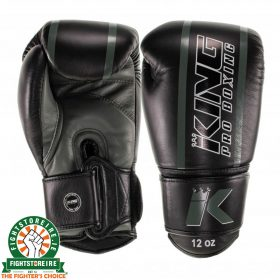 King Elite 5 Muay Thai Gloves - Black/Green