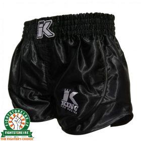 King Pro Boxing Retro Hybrid Muay Thai Shorts - Black
