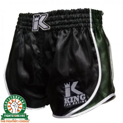 King Pro Boxing Retro Hybrid Muay Thai Shorts - Black/Green