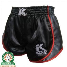 King Pro Boxing Retro Hybrid Muay Thai Shorts - Black/Red