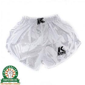 King Pro Boxing Retro Hybrid Muay Thai Shorts - White