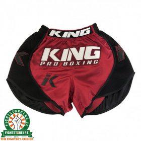 King Pro Boxing X1 Muay Thai Shorts - Black/Red