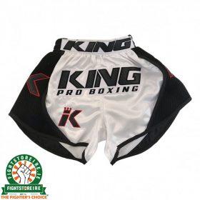 King Pro Boxing X1 Muay Thai Shorts - Black/White