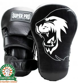 Super Pro Combat Gear Leather Long Curved Mitts