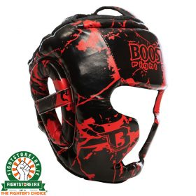 Booster Kids Marble Red Headguard