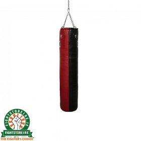 Super Pro 4ft Leather Punch Bag - Black/Red
