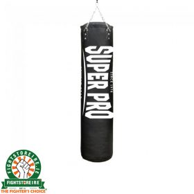 Super Pro 5ft PU Luxury Punching Bag - Black