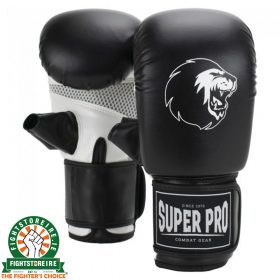 Super Pro Bag Gloves - Black/White