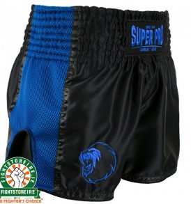 Super Pro Brave Thai Boxing Short - Black/Blue