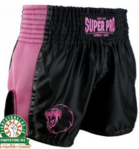 Super Pro Brave Thai Boxing Short - Black/Pink