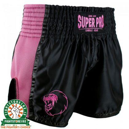 Super Pro Brave Thai Boxing Short - Black/Pink