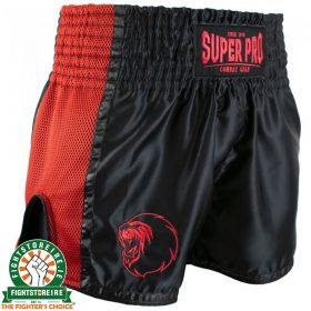 Super Pro Brave Thai Boxing Short - Black/Red