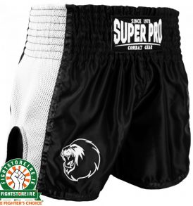 Super Pro Brave Thai Boxing Short - Black/White