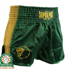 Super Pro Brave Thai Boxing Short - Green