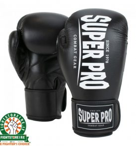 Super Pro Champ Kickboxing Gloves - Black/White