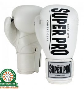 Super Pro Champ Kickboxing Gloves - White