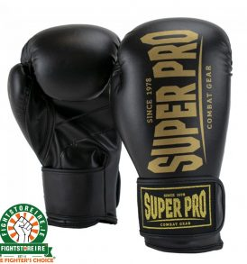 Super Pro Champ SE Kickboxing Gloves - Black/Gold | Fightstore IRE