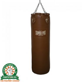 Super Pro Classic Leather 4ft Punch Bag - Brown