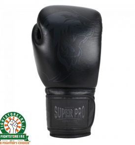 Super Pro Legend Leather Kickboxing Gloves - Black