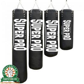 Super Pro PU Luxury Punching Bags - Black