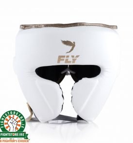 Fly KNIGHT Cheek Head Guard - White/Gold