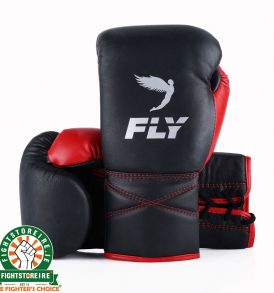 Fly SUPERLACE Training Boxing Gloves - Black/Red