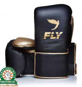 Fly Superloop Training Boxing Gloves - Black/Gold