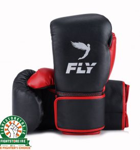 Fly Superloop Training Boxing Gloves - Black/Red