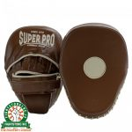 Super Pro Curved Vintage Hook and Jab Pad - Leather