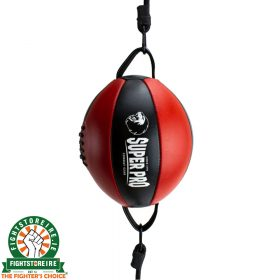 Super Pro Leather Double End Ball - Red/Black