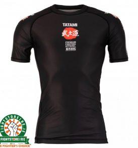 Tatami Bushido Black Rash Guard - Short Sleeve