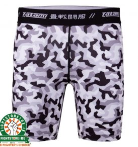 Tatami Rival White and Camo Vale Tudo Shorts