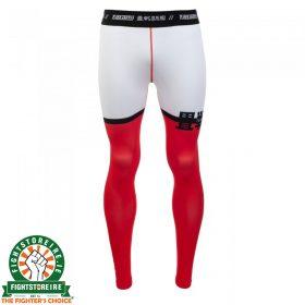 Tatami Super Grappling Spats - White/Red/Black