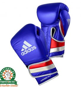Adidas adiSpeed Limited Edition Velcro Boxing Gloves Metallic - Blue
