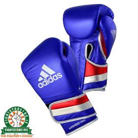 Adidas adiSpeed Limited Edition Velcro Boxing Gloves Metallic - Blue