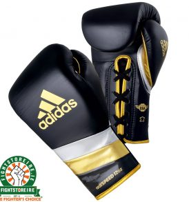 Adidas adiSpeed Lace Boxing Gloves Metallic - Black/Gold