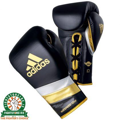 Adidas adiSpeed Lace Boxing Gloves Metallic - Black/Gold