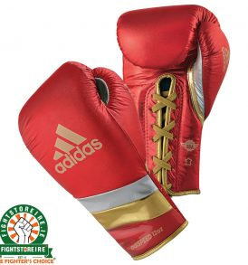 Adidas adiSpeed Lace Boxing Gloves Metallic - Red